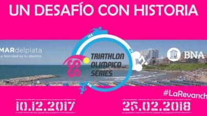 Destacados triatletas estarán en el Olímpico Series de Mar del Plata