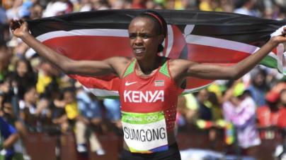 Jemima Sumgong, vigente campeona Olímpica de Maratón, suspendida cuatro años por dopaje