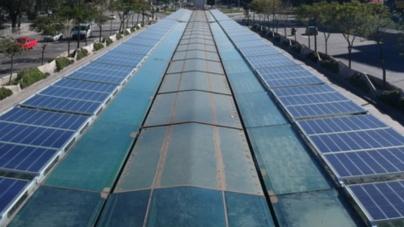 """Majo Rutilo: """"Paneles solares en la ciudad."""""""