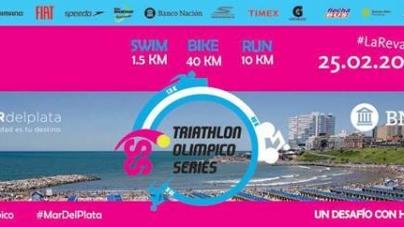 Palacio Balena y Morandini en el Triatlón Olímpico Series de Mar del Plata