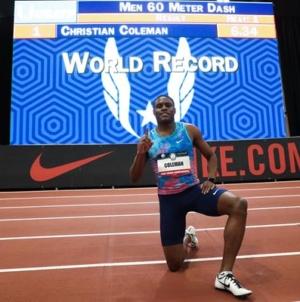 Coleman quiebra el WR de 60mt indoor una vez más