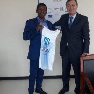 Haile Gebrselassie es atleta de Racing Club.