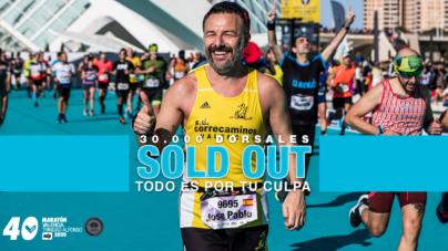 Faltan diez meses para el  Maratón de Valencia y ya no quedan cupos