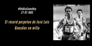 El récord perpetuo de Jose Luis González (ESP) en milla
