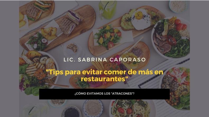 #Nutricion Tips para evitar comer de más en restaurantes