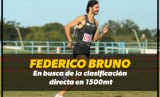 Federico Bruno busca la clasificación directa en 1500mt para Tokyo 2020