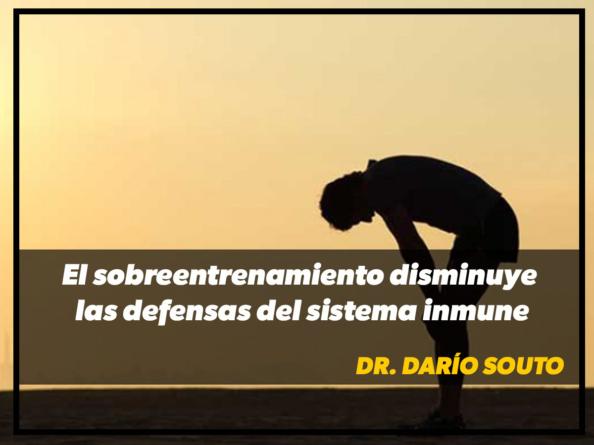 """Dr. Darío Souto: """"El sobreentrenamiento disminuye las defensas del sistema inmune"""""""