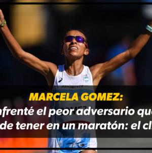"""Marcela Gómez: """"Enfrenté el pero adversario que se puede tener en un maratón: el clima"""""""